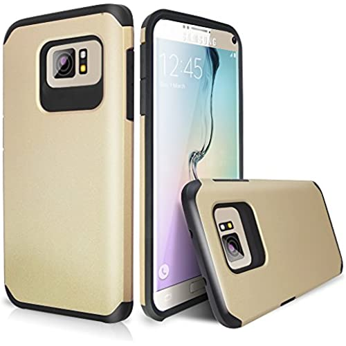 Galaxy S7 Case, TJS Ultra Thin Slim Hybrid Shockproof Drop Protection Impact Rugged Hard Armor Case Cover For Samsung Galaxy S7 (2016) (Black/Gold) Sales