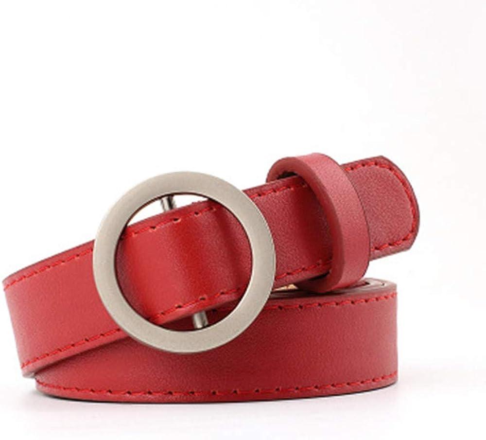 Cocila Fashion Women Ladies Casual Classic Leisure Girdle No Hole Ring Buckle Leather Trouser Dress Belt
