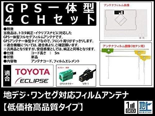 AVN770HDmkII 対応 GPS一体型 地デジ/フルセグ フィルム アンテナ セット VR1 タイプ 【低価格高品質タイプ】