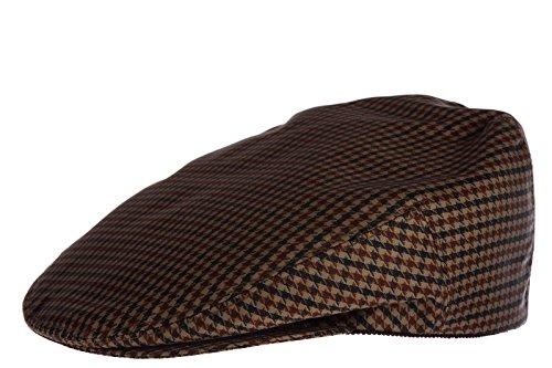 Prada men's flat hat newsboy cap gatsby Nylon quadretto brown US size L - Mens Hat Prada