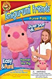 Lion Brand Yarn APP-AM9 Amigurumi Friends Purse Pals Kit, Hamlet The Pig