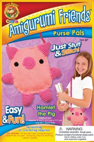 Lion Brand Yarn APP-AM9 Amigurumi Friends Purse Pals Kit, Hamlet The Pig by Lion Brand Yarn