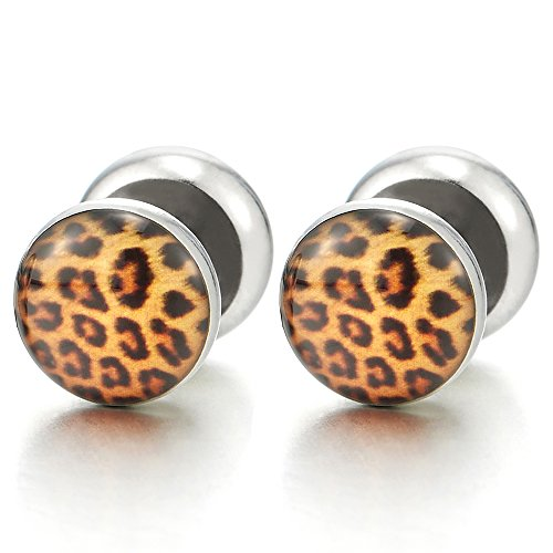 leopard print fake plugs - 2