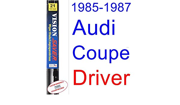 Amazon.com: 1985-1987 Audi Coupe Wiper Blade (Driver) (Saver Automotive Products-Vision Saver) (1986): Automotive