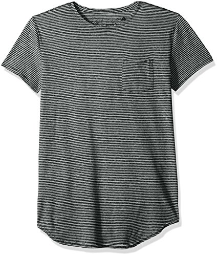 neff Men's Willard Short Sleeve Stripe Pocket Tee, Black/White, (Stripe T-shirt)
