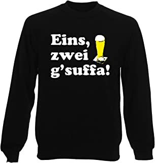 T-Shirtshock Felpa Girocollo Uomo Nera BEER0051 Drink UP Oktoberfest Light