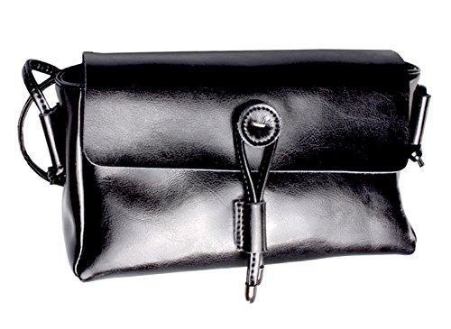 SAIERLONG Neues Damen Braun Echtes Leder Schultertaschen Messenger Bag Schwarz RrdwWsh