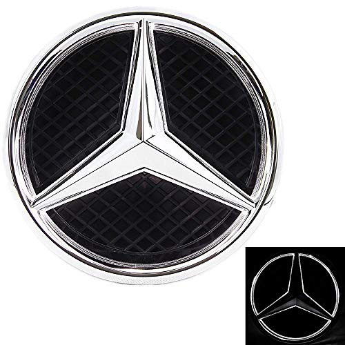 Xenon White Illuminated LED Car Logo Grid Badge for Mercedes Benz A/B/C/CLS/E/GLK/GL/R Series Front Grille LED Emblem Light