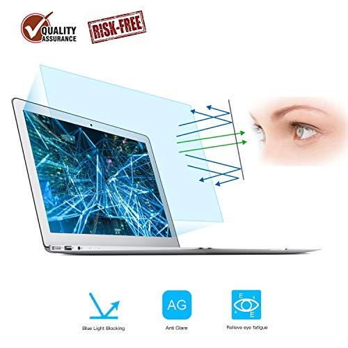 2 Pack Screen Protector -Blue Light Filter Compatible for MacBook Air 13 13.3 Model A1369 A1466, Eye Protection Blue Light Blocking & Anti Glare Screen Protector