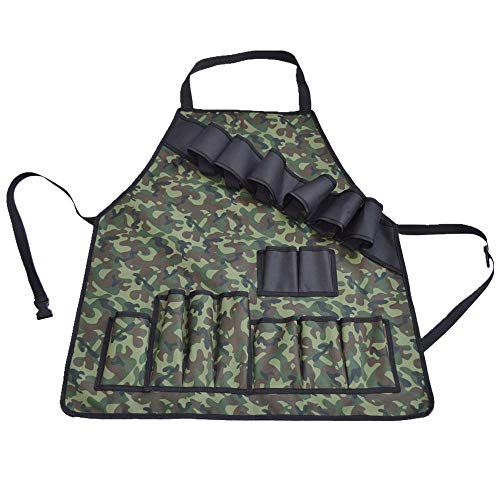 Ationgle Grill BBQ Aprons Professional Unisex Multifunctional Apron with Tool Pockets and Beer Holder for Men Funny Gift for Cookouts Camping Picnic Cooking Gifts