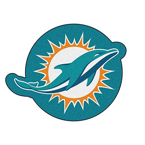 Fanmats 20976 NFL - Miami Dolphins Mascot Mat, Team Color, 3' x 4' -