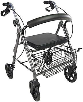 Polironeshop - Andador Paros para ancianos y discapacitados, plegable, ligero, fácil de transportar y volver a plegar. Ortopédico, para postoperatorio, para uso interior y exterior, de viaje, con fren