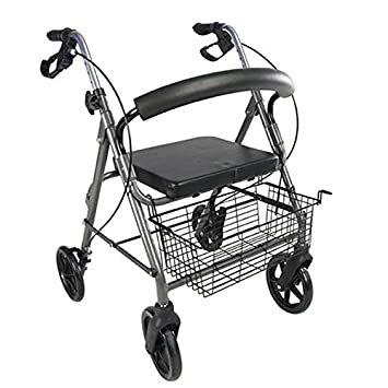 POLIRONESHOP PARO Andador para ancianos con frenos y 4 ruedas plegable portátil: Amazon.es: Deportes y aire libre