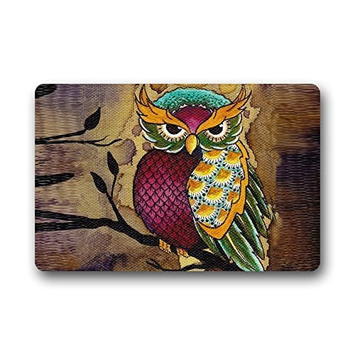 Shirley's Door Mats Cute Owl Doormat Non slip Floor Mat Durable Fabric Doormat Bathroom Kitchen Decor Area Rug/Floor Mat 23.6 X 15.7 Inch