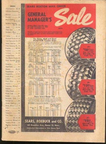 Sears Roebuck General Manager's Sale Circular 1951 (Sales Circular Sears)
