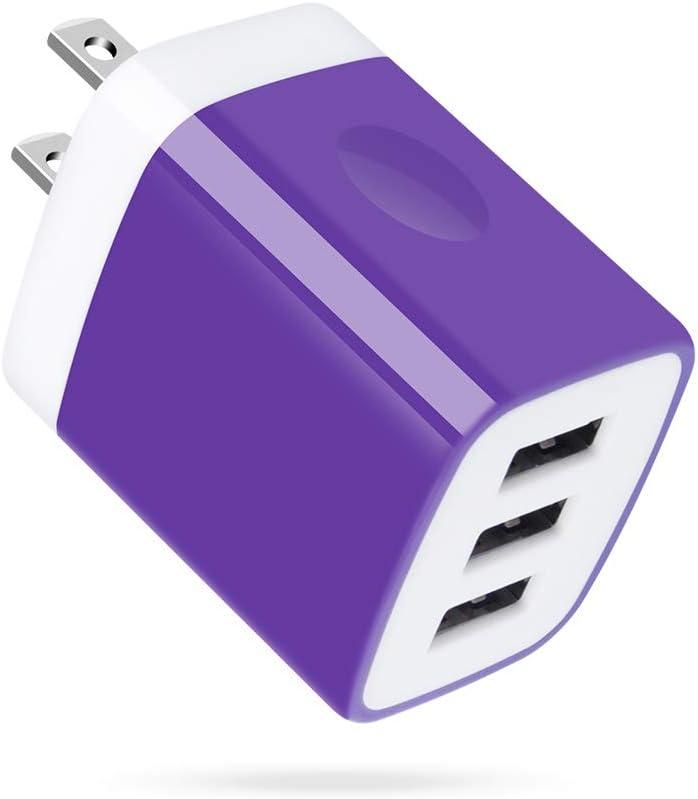 3 Port USB Wall Charger, Multi-Port USB Plug, Charging Block, UorMe 5V 3.1A USB Wall Plug Compatible with iPhone 11 Xs XR 8 7 6S, Samsung Galaxy 10e 9 S9 S8 Note 8 Plus, LG V20 V30 V35 THINQ Q7 G7