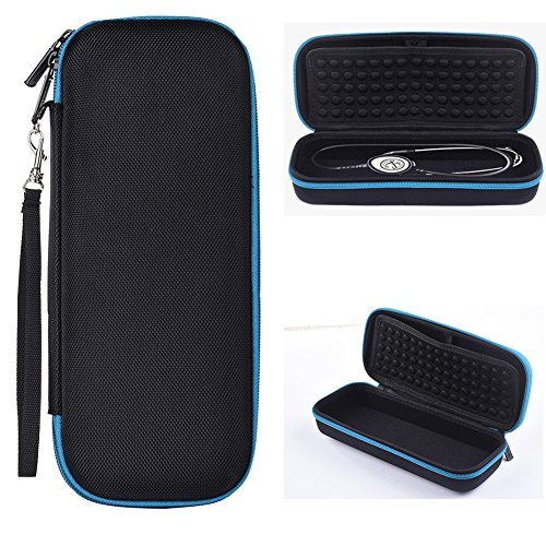 Hard Carrying Case for 3M Littmann Stethoscope. - Includes Mesh Pocket for Accessories