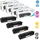 LD Compatible Toner Cartridge Replacements for HP 312A & HP 312X High Yield (Black, Cyan, Magenta, Yellow, 4-Pack)