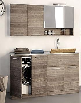 Lavadora Con Lavabo.Dafnedesign Com Mobile Lavanderia Porta Lavatrice E Cesti