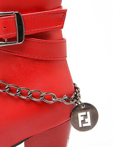 5 negro Casual Mujer Y Rojo botas tacón 5 La Trabajo us10 Uk8 Red semicuero Robusto Marrón Moda A Eu42 botas Gris Zq Cn43 oficina qOwBPZndq
