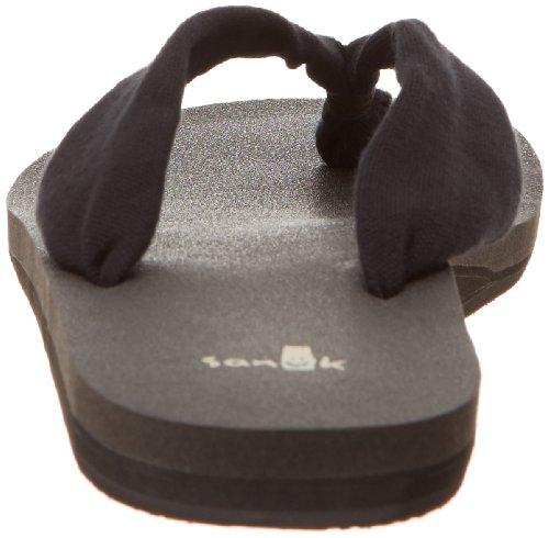 Sanuk Mujer Yoga Slinger Flip-Flop Negro
