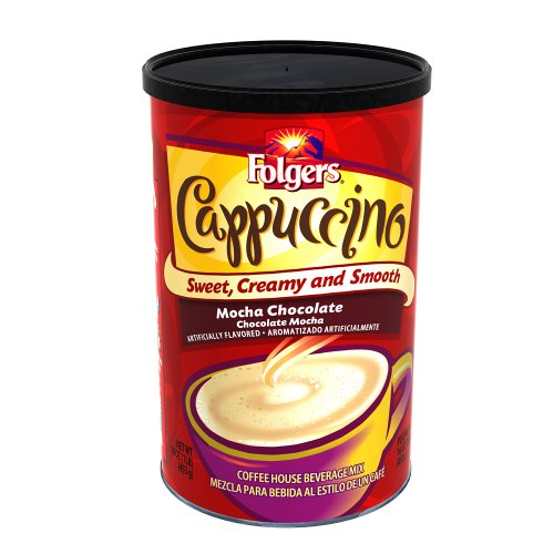 Folgers Cappuccino Chocolate 16 Ounces Canisters product image