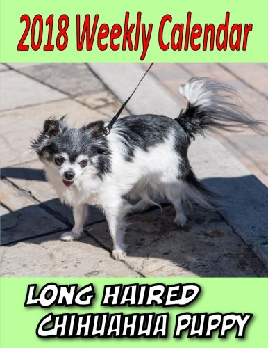 2018 Weekly Calendar Long Haired Chihuahua Puppy: Dog Quote, chihuahua puppy,