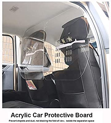 ZMCOV Mampara Protectora De Metacrilato, Separador Transparente, Anti Contagio Y Protección, Pantalla Protección para Automóviles Privados, Taxis, Autobuses, Autobuses Escolares: Amazon.es: Hogar