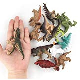 12 Pack Dinosaur Toys Kids Educational Realistic Toy Jurassic World Dinosaur Figures T-Rex Stegosaurus Triceratops Monoclonius Party Supplies Dino Toys for Kids
