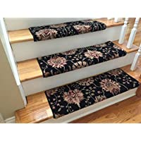 6 Colors Handmade Wool TRUE Bullnose Stair Tread Wools of New Zealand Emporium (31 Wide, Midnight)