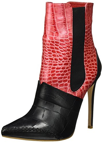 rot Schwarz Berlin Multicolour Fersengold rot Boots Chelsea Women's Schwarz nUax48P