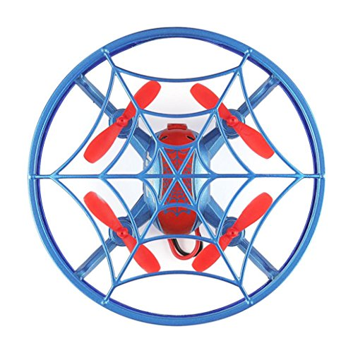 Price comparison product image Dreamyth JJRC H64 Spiderman Full Cover 3D Rolling Quiver Smart Drone Quadcopter Toy RTF Best Gift (blue)