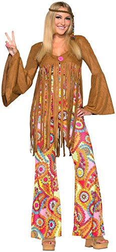 Forum Novelties Women's Groovy Sweetie Hippie Costume, Multi, (Bottom Hippie Dress)