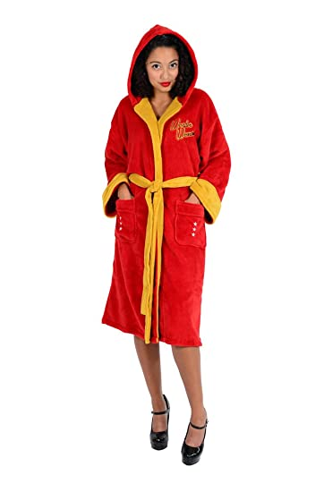 DC Comics Wonder Woman Bombshell Ladies Fleece Robe (One Size)