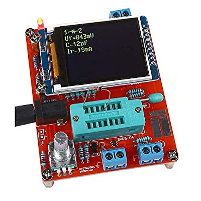 Transistor Tester, KKmoon Multifunctional LCD GM328 Transistor Tester Diode Capacitance ESR Voltage Frequency Meter PWM Square Wave Signal Generator