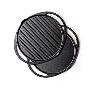 Meyer 30cm Cast Iron 2 in 1 Grill & Griddle