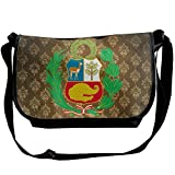 Lov6eoorheeb Unisex Coat Of Arms Of Peru Wide Diagonal Shoulder Bag Adjustable Shoulder Tote Bag Single Shoulder Backpack For Work,School,Daily