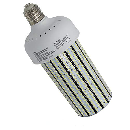 NUOGUAN 160W 480V LED Retrofit 400W Warehouse Gym Workshop High Bay Fixture 21858 Lumens Daylight 5000K AC277-480V Mogul E39 Base 400W Metal Halide HID Replacement 360 Degree Corn Cob Light