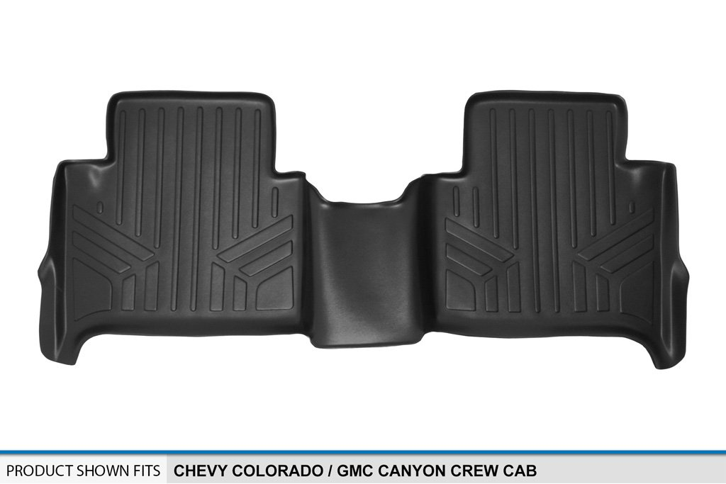SMARTLINER Floor Mats 2nd Row Liner Black for 2015-2018 Chevy Colorado//GMC Canyon Crew Cab MAXLINER B0164