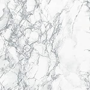 "d-c-fix Decorative Self-Adhesive Film, Grey Marble, 17.71"" x 78"" Roll, 346-0306"