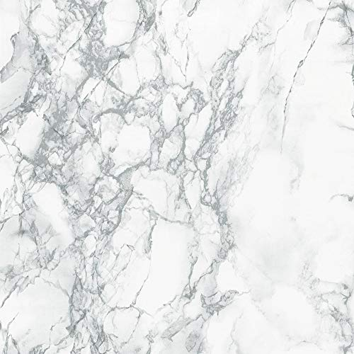 (d-c-fix 346-0306 Decorative Self-Adhesive Film, Grey Marble, 17
