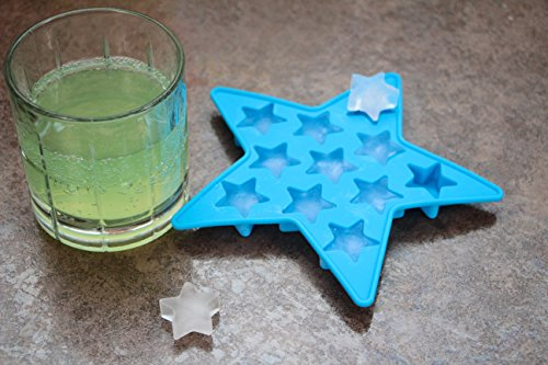 Star Ice Cube Tray Silicone - Fun NoveltyIce Cube Tray Molds for Christmas (Star Shape Ice Cubes) (Small Star Ice Cube Tray compare prices)