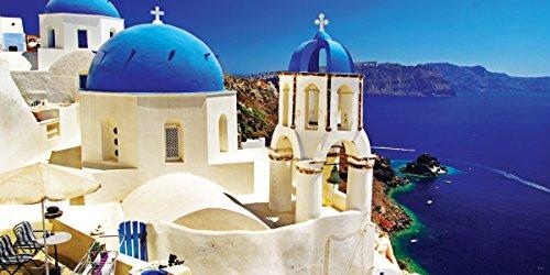 Culturenik Greece Santorini Caldera Decorative Scenic Travel Photography Print (Unframed 12x24 Poster) (Scenic Posters)