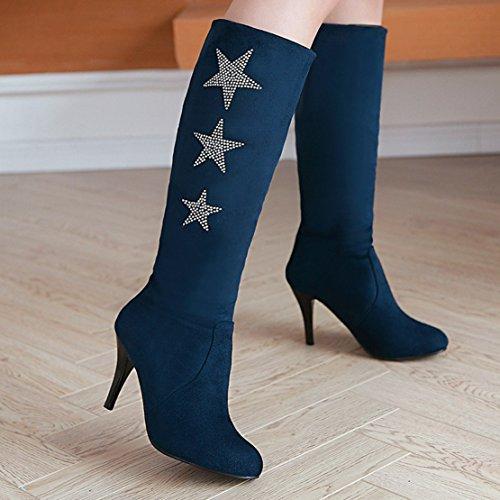 AIYOUMEI Women's Classic Boot Blue RUBkV