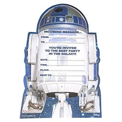Hallmark Tarjeta de invitación a fiesta de cumpleaños personalizable, con estilo de Star Wars, texto en inglés, 20 unidades: Oficina y papelería