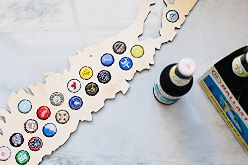 Long Island Beer Cap Map - Holds Craft Beer Bottle Caps - New York Neighborhoods (natural_wood) by Beer Cap Country (Image #3)