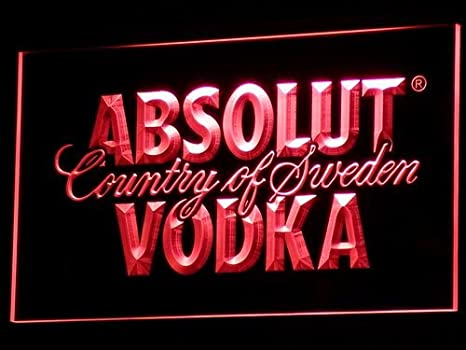 Absolut Wodka - Cartel Luminoso LED para Bar o Club: Amazon ...