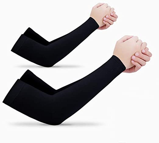 2 Pairs Unisex Outdoor Sport Arm Sleeves Cover UV Sun Protection Long Sleeve