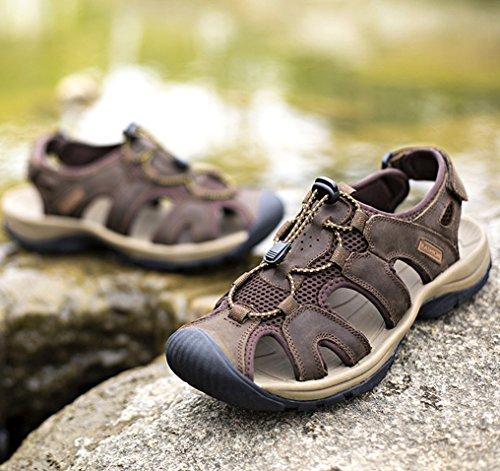 Louechy Mens Landam Sandali Da Pescatore Outdoor Sport Sandalo Scarpe Da Donna Estate Escursionismo Sandali Caffè
