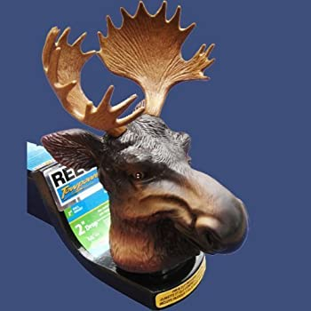 TreasureGurus, LLC Moose with Antlers Trailer Hitch Ball Cover for Truck SUV Rv or Boat
